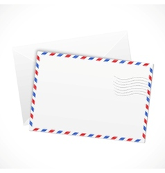 White paper airmail envelope vector