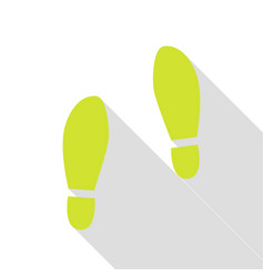 Imprint soles shoes sign pear icon with flat vector