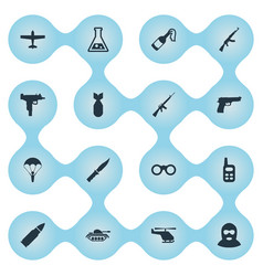 Set of 16 simple army icons can be found such vector