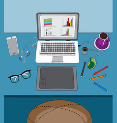 Home office and remote work vector