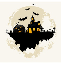 Grunge background for halloween party vector