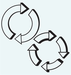 Arrows circle vector image