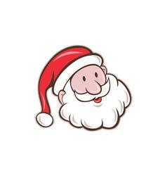 Santa Claus Father Christmas Head Smiling Cartoon vector image