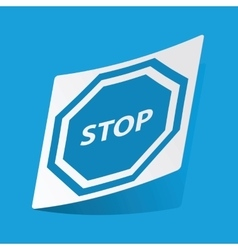 Stop sign sticker vector
