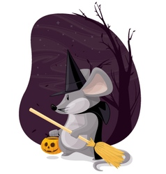 Witch mouse vector