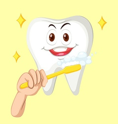 Healthy tooth with happy face vector