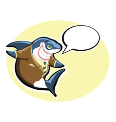 smiling shark vector image