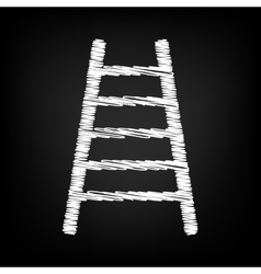 Ladder sign scribble effect vector