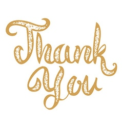 Thank you hand drawn lettering vector
