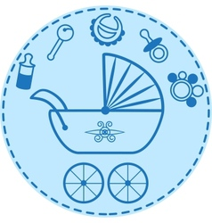 Baby things collection vector image vector image