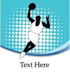 Basketballer silhouette vector image vector image