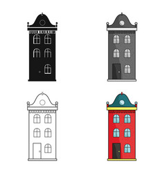 building icon in cartoon style isolated on white vector image