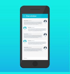 Chat interface sms messenger ui ux material vector