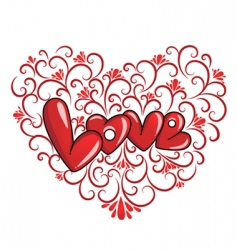 decorative love vector image vector image