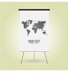 Empty Board for business presentation the website vector image vector image