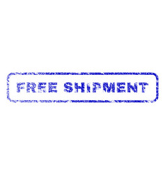 free shipment rubber stamp vector image