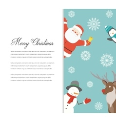 Funny Merry Christmas card Christmas characters vector image vector image