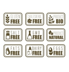 Gluten Free Natural Product Label vector image