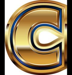 Golden Font Letter C vector image