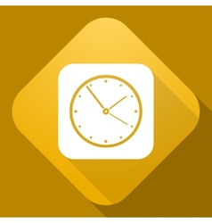 Icon of clock with a long shadow vector