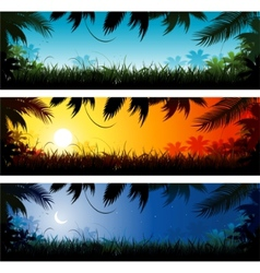 Jungle background vector