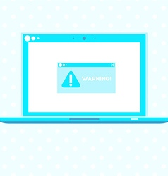 Laptop with warning vector image vector image