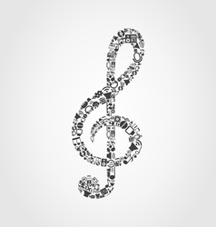 Musical key4 vector image vector image