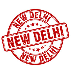 New delhi stamp vector