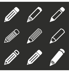 Pen icon set vector
