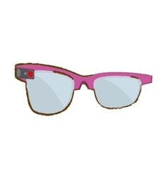 Pink ar smart glasses device virtual vector
