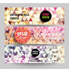 Quirky web banner set vector