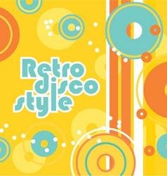 retro disco style vector image vector image