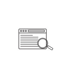 Search result icon seo browser magnifier vector