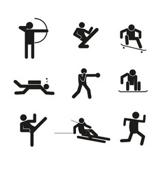 sport abstract symbol graphic set vector image