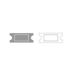 Ticket grey set icon vector