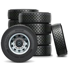 Truck Tires vector image