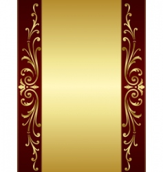 vintage scroll background vector image