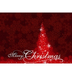 Red Abstract Christmas Tree vector image