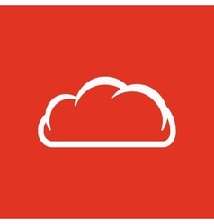 The cloud icon cloud symbol flat vector