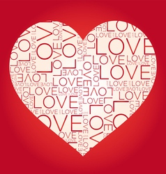 Love word collage vector