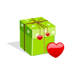 Icon gift box vector
