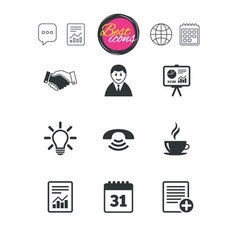 Office documents and business icons vector