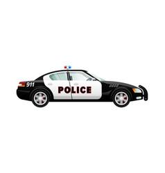 police car in simple cartoon design speed vehicle vector image