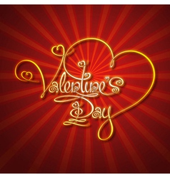 Glamorous gold valentines day vector