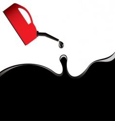 oil slick petrol can vector image