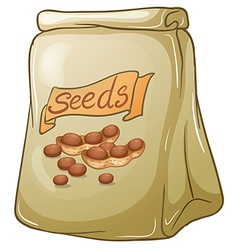 A pack of nut seeds vector image