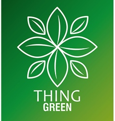 Thing green design over green background vector