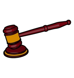 Wooden judge gavel vector