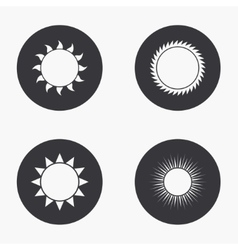Modern sun icons set vector