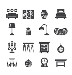 Home decoration icons vector